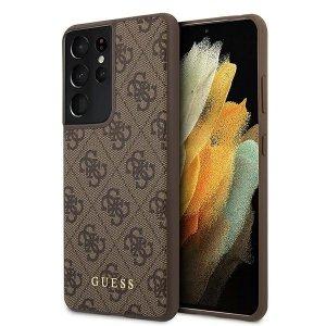 Etui GUESS GUHCS21LG4GFBRS21 Ultra G998 brązowy/brown hard case 4G Metal Gold Logo