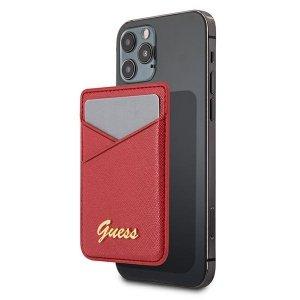 Etui Guess Wallet Card Slot GUWMSSASLRE MagSafe Saffiano czerwony/red