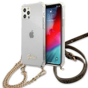 Etui Guess GUHCP12MKC4GSGO iPhone 12/12 Pro 6,1 Transparent hardcase 4G Gold Chain