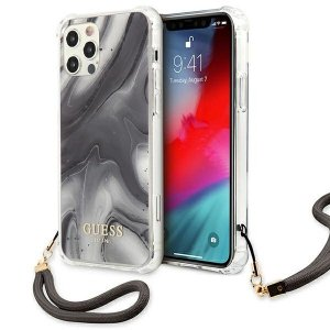 Etui Guess GUHCP12MKSMAGR iPhone 12/12 Pro 6,1 szary/grey hardcase Marble Collection