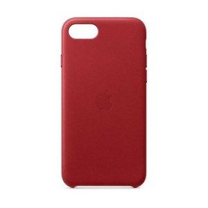 Etui Apple MXYL2ZM/A iPhone SE 2020 czerwony/red Leather Case