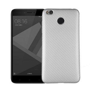 Etui Carbon Fiber Xiaomi Redmi 4X srebrn y/silver