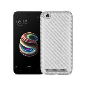 Etui Carbon Fiber Xiaomi Note 5A srebrny /silver cut for finger print