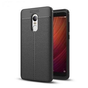 Etui Grain Leather Xiaomi Redmi Note 4X czarny/black