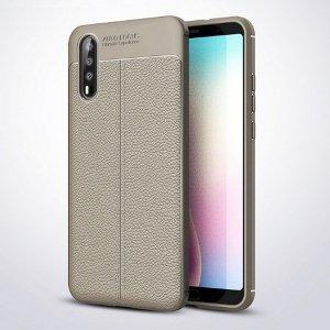 Etui Grain Leather Huawei P20 szary/grey