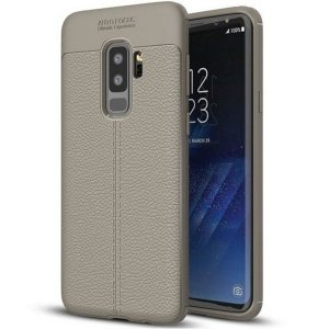 Etui Grain Leather Samsung S8 G950 szary /grey