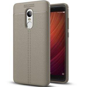 Etui Grain Leather Xiaomi Redmi Note 4X szary/grey