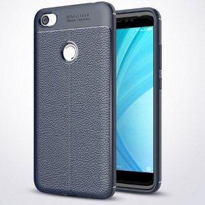 Etui Grain Leather Xiaomi Redmi Note 5A niebieski/blue