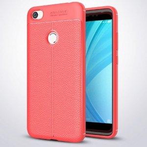 Etui Grain Leather Xiaomi Redmi Note 5A czerwony/red