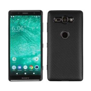 Etui Carbon Fiber Sony XZ2 Compact czarny/black