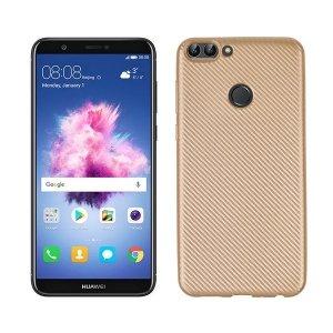 Etui Carbon Fiber Huawei Honor Enjoy 7S złoty/gold / P Smart
