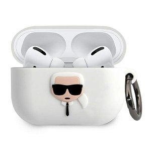 Karl Lagerfeld KLACAPSILGLWH AirPods Pro cover biały/white Silicone Ikonik