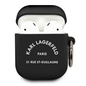 Karl Lagerfeld KLACA2SILRSGBK AirPods cover czarny/black Silicone RSG