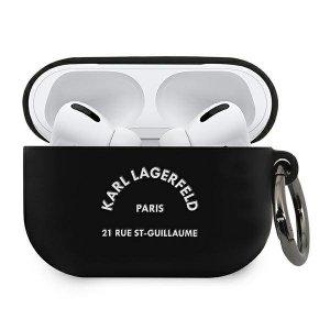 Karl Lagerfeld KLACAPSILRSGBK AirPods Pro cover czarny/black Silicone RSG