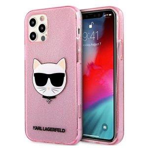 Karl Lagerfeld KLHCP12MCHTUGLP iPhone 12/12 Pro 6,1 różowy/pink hardcase Glitter Choupette