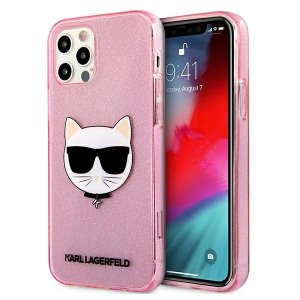 Karl Lagerfeld KLHCP12LCHTUGLP iPhone 12 Pro Max 6,7 różowy/pink hardcase Glitter Choupette