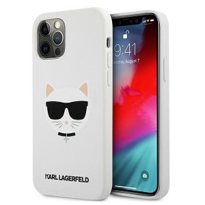 Karl Lagerfeld KLHCP12LSLCHWH iPhone 12 Pro Max 6,7 hardcase biały/white Silicone Choupette