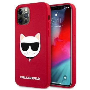 Karl Lagerfeld KLHCP12MSLCHRE iPhone 12/12 Pro 6,1 hardcase czerwony/red Silicone Choupette