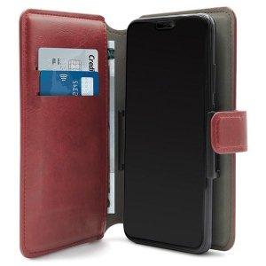 PURO Wallet 360° XL etui uniwersalne czerwony/red obrotowe z kieszeniami na karty UNIWALLET4REDXL