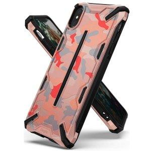 Ringke Dual X iPhone X/Xs różowy moro /camo pink DXAP0014