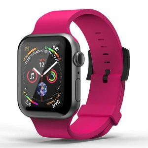 SuperDry Watchband Apple Watch 42/44mm Silicone różowy/pink 41680