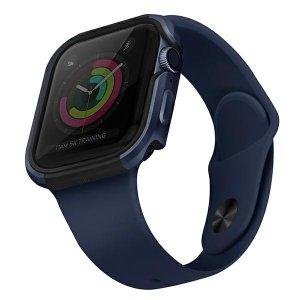 UNIQ etui Valencia Apple Watch Series 4/5/6/SE 40mm. niebieski/atlantic blue