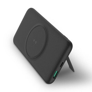 UNIQ Powerbank indukcyjny Hyde Air Click 10000mAh USB-C 20W PD Fast Wireless charge ciemno szary/dark grey