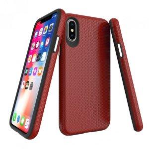 X-GUARD DUAL LAYER RUGGED CASE Pancerne etui iPhone X/XS (czerwony)