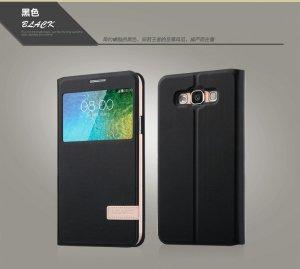 USAMS S VIEW Case Cover Flip Stand  ETUI do SAMSUNG GALAXY E7 (czarne)