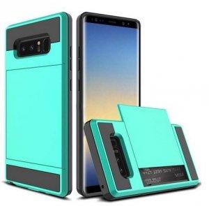 Dual Rugged Case Card Slide - Pancerne etui - Samsung Galaxy J5 2016 J510 (miętowy) + szkło hartowane
