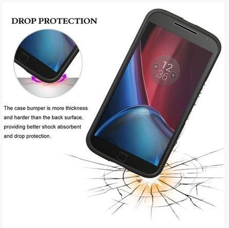 VAKOO Etui Case Heavy Duty Drop Protection - MOTO G4 / G4 PLUS (Black)