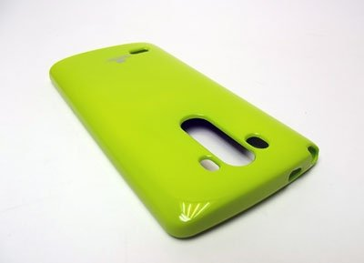 MERCURY JELLY CASE ETUI BACK COVER LG G3 (limonka)