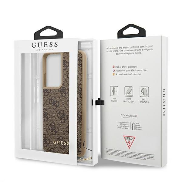 Guess GUHCS21LGF4GBR S21 Ultra G998 brązowy/brown hardcase 4G Charms Collection