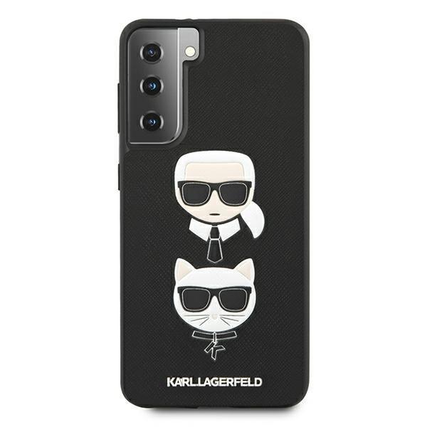 Etui Karl Lagerfeld KLHCS21SSAKICKCBK S21 G991 czarny/black hardcase Saffiano Ikonik Etui Karl&Choupette Head
