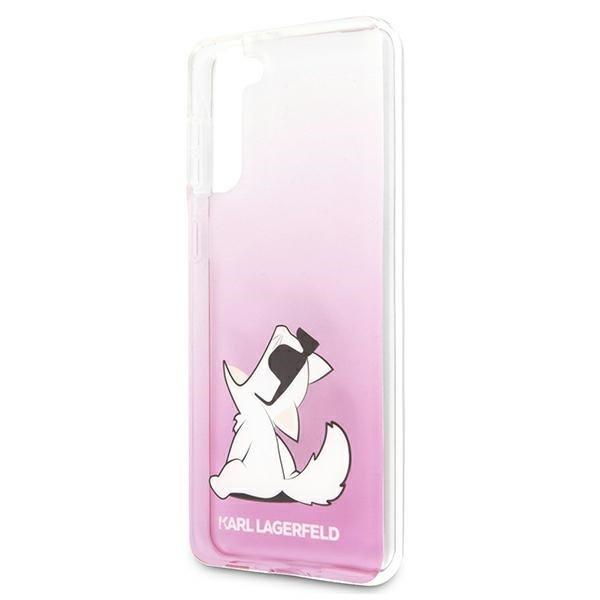 Etui Karl Lagerfeld KLHCS21SCFNRCPI S21 G991 hardcase różowy/pink Choupette Fun