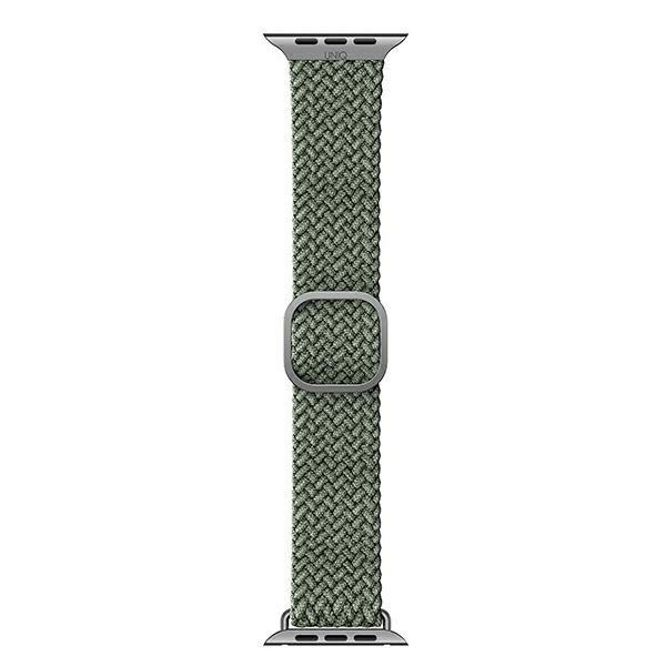 UNIQ pasek Aspen Apple Watch 44/42mm Braided zielony/cypress green