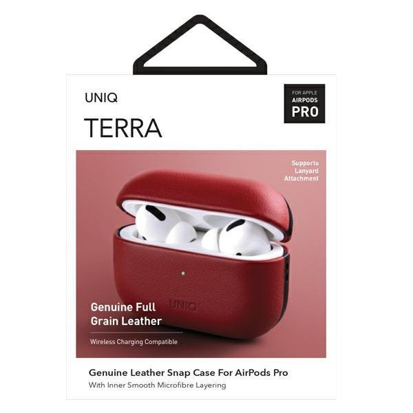 UNIQ etui Terra AirPods Pro Genuine Leather czerwony/red