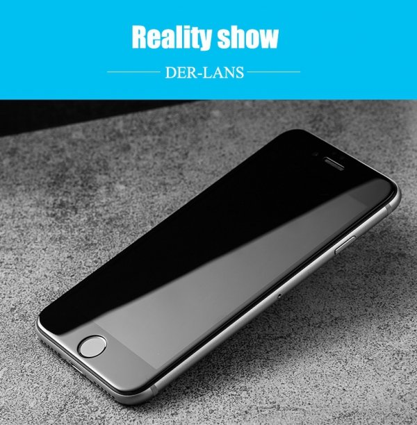 "HardGlass MAX 5D - Szkło Hartowane na cały ekran do Apple iPhone 6 PLUS 6S PLUS (5,5"") kolor czarny"