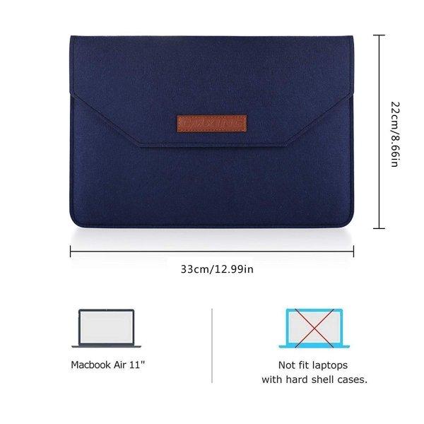 """CMXING FILCOWE NATURALNE ETUI KOPERTA 3w1 do laptopa i tabletu 11"""" (granatowy)"""