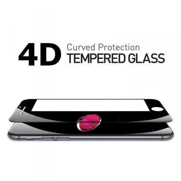 "HardGlass MAX 5D - Szkło Hartowane na cały ekran do Apple iPhone 6 6S (4,7"") kolor biały"