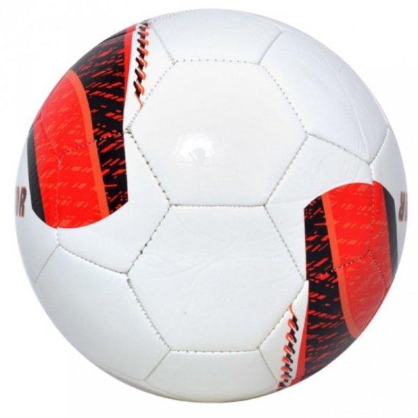 Piłka nożna Smj Samba Predator 4 biało-czerwona