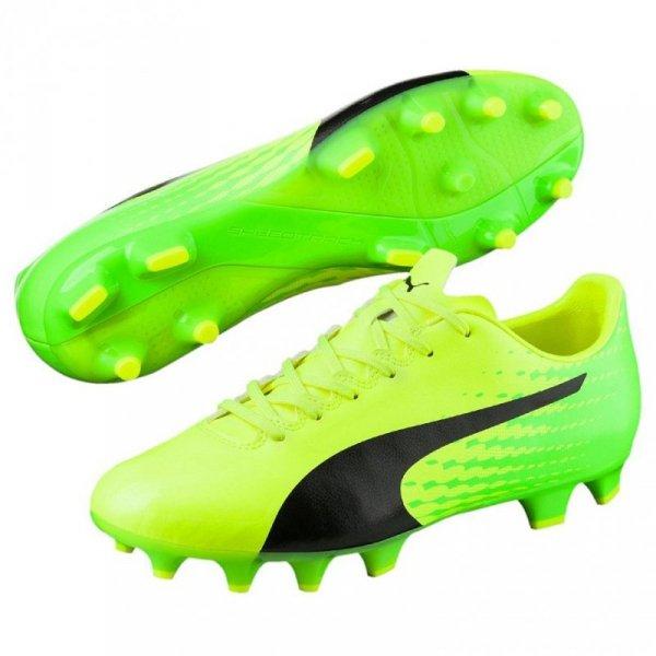 Buty piłkarskie Puma Evo Speed 17.4 FG żółto-zielone 104017 01