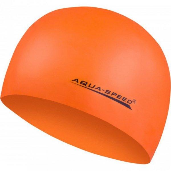 Czepek pływacki Aqua-Speed Mega pomarańczowy 75 100