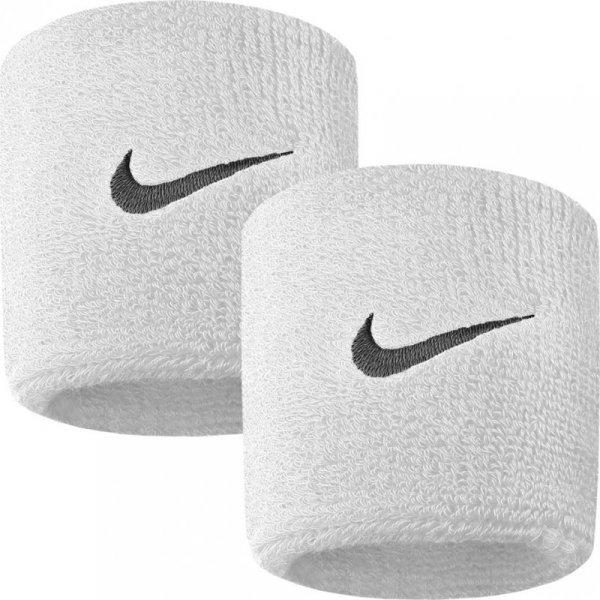Frotka na rękę Nike Swoosh biała 2szt NNN04101
