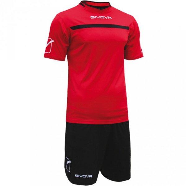 Komplet Givova Kit One czerwono-czarny KITC58 1210
