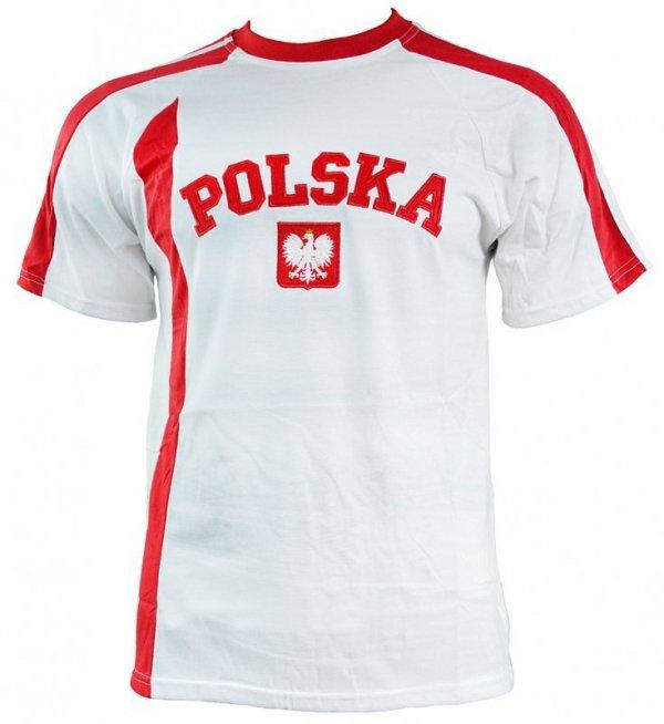Koszulka męska Replika Polska biało czerwona