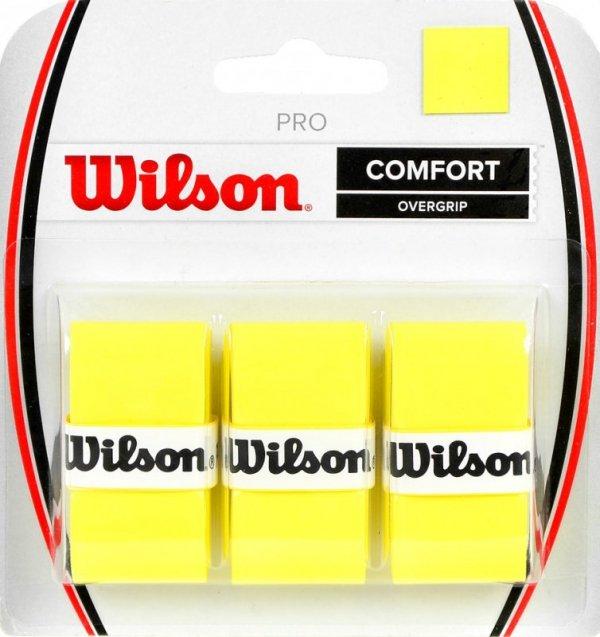 Owijka Wilson Pro Comfort Overgrip żółta 3szt WRZ4014YE