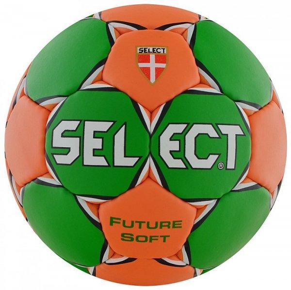 Piłka ręczna Select Future Soft Mikro 00 zielono-pomarańczowa