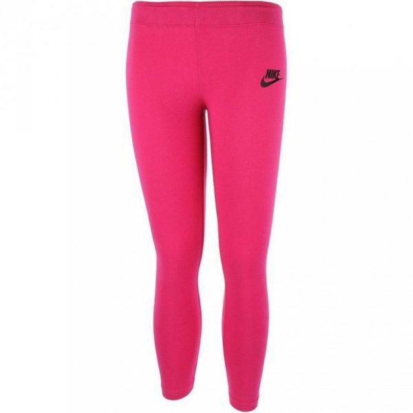 Legginsy dla dzieci Nike G NSW Tight Club Logo różowe 844965 615
