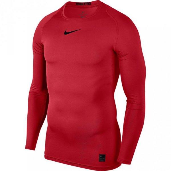 Koszulka męska Nike Pro Top Compression Crew LS czerwona 838077 657